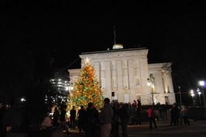 Photo: Annual Lighting of the Tree via